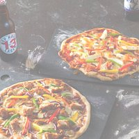 come and sample our hand stretched Pizzas