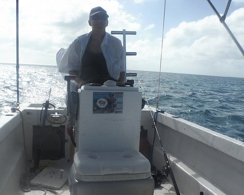 Capt. Jessie at the wheel, lol, what a memorie