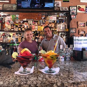 Our favorite bartenders at Monkey's Cave Bar.