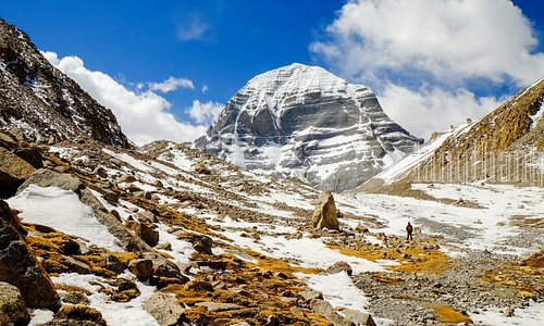 The Northern face of Kailash Mountain