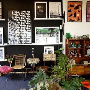 The interior of Von Schpargau vintage store