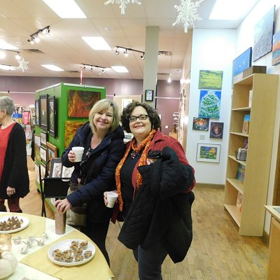 Guest enjoy some treats during the holiday open house!