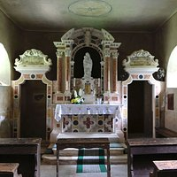 The altar in the Sanctuary of St Mary on the Rocks