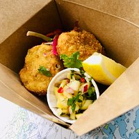 Delicious seafood takeaway in Rodel