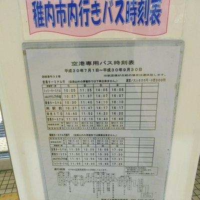 稚内空港⇔稚内市内バスの時刻表