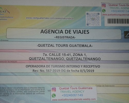 Our Tour Operator Registration and and Travel Agency Autorization. Quetzal Tours Guatemala is an 100% Legal Tour Operator Travel Agency, You are in Good Hunds with Quetzal Tours Guatemala Thankyou for supporting a Local Travel Agency!
