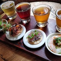 Seafood tasting board is a great place to start on your beer and food journey.