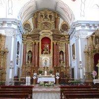 The altar screen and side screens in Iglesia de Santa Cecilia, Ronda new town.