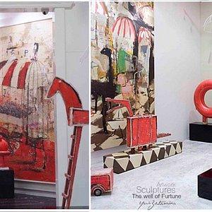 Galeria de arte Yuri Zatarain, exposición de obras del artista, es un espacio  para visitar y conocer el arte de este gran maestro, que con sus pinceladas nos transporta en la historia que permite plasmar en estos lienzos.