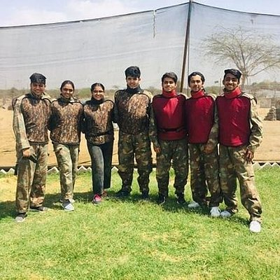 Happy faces @war lords - the Paintball field. #THINGSTODOINJODHPUR THINGS TO DO IN JODHPUR