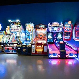Over 100 arcade games.