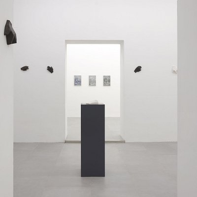 """Part of installation-view of the two person show """"doppio soggetto"""" by Antonio Catelani and Luca Pancrazzi"""
