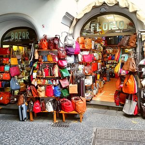 Bazar Florio has been selling leather goods in Amalfi since 1970