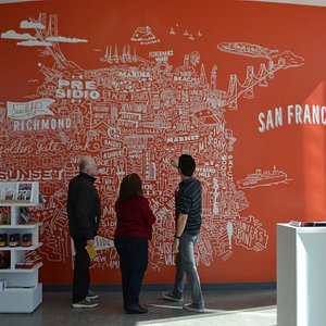 Take a photo with our neighborhood map wall and browse through our SF Made retail selection.