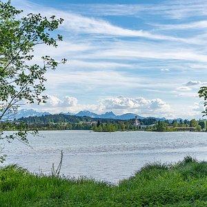 Blick über den See nach Lechbruck.