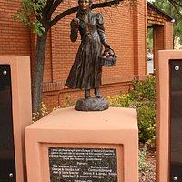 Bronze sculpture -:Sedona Schnebly by Susan Kliewer
