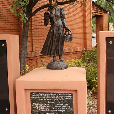 Bronze sculpture -:Sedona Schnebly by Susan Kliewer