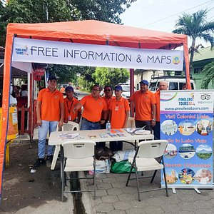 We offer free information and maps at your arrival at gate #3 of Corinto Port. We place an orange tent (canopy) with an English speaking tour guide in our Help Desk to assist you with any information you need, get additional tips or ideas for your day in Corinto, arrange any service or to get a free map of Corinto, León or Nicaragua.