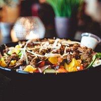 Fresh beef salad.