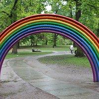Rainbow sculpture