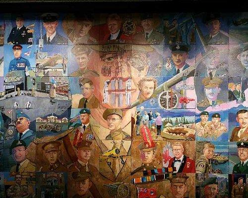Lethbridge Military museum mural.