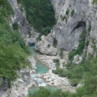 canyon du couloir samson, au coeur des gorges.