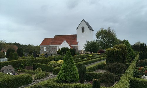 Church view with cemetery.