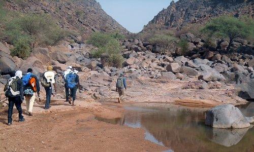 Randonnée sur le Mont Egalagh, près de l'oasis de  Timia au Niger