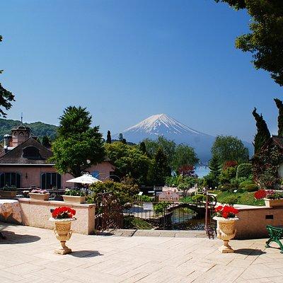 レストランテラスから望める富士山