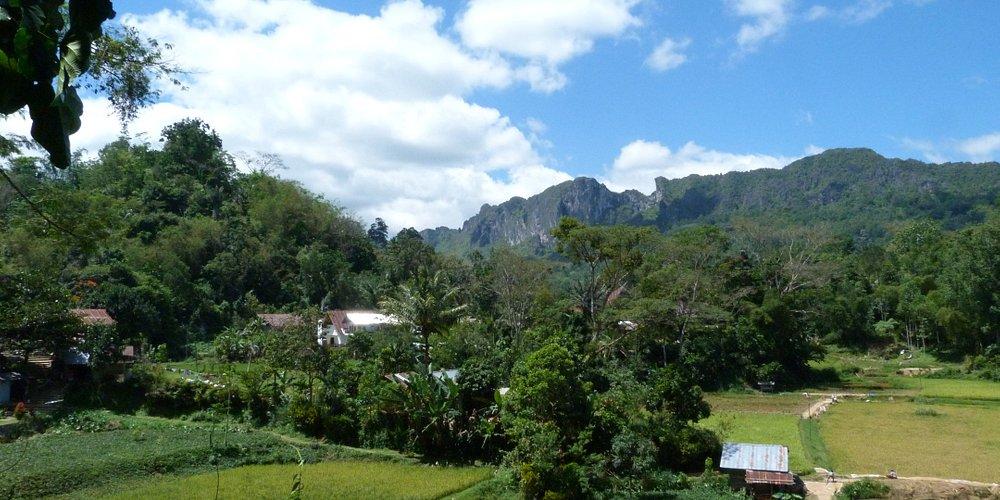 Bel paesaggio nella zona centrale dell'isola di Sulawesi