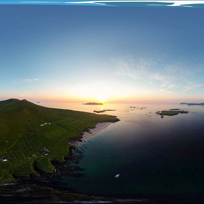 Panormic views of the Blasket Islands