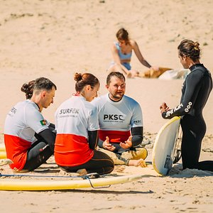 Our coaches will carefully teach you every detail that you need to surf safe and to have a lot of fun.