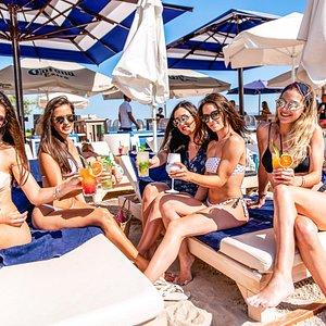 Having fun, taboo beach bar