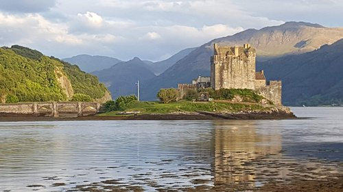 Dornie Castle can be seen from the front bedrooms and is a five-minute walk to visit.