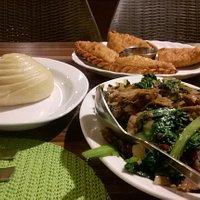 Tingmo and Shredded pork