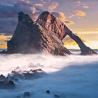 Sunrise at Bow Fiddle Rock, Portnockie, Moray