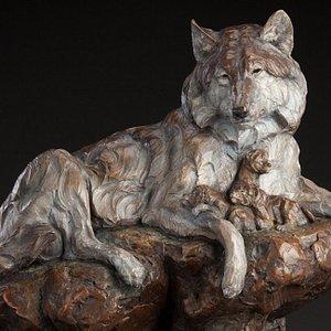 """""""Den Mother"""" LE Bronze by Ken Rowe"""