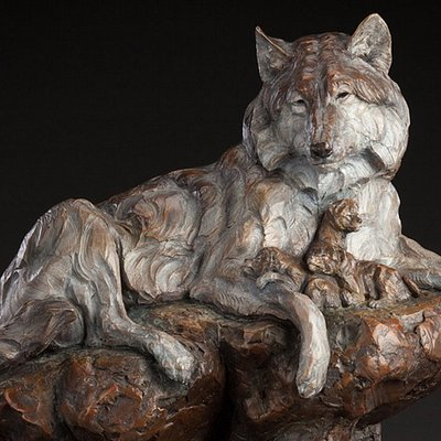"""Den Mother"" LE Bronze by Ken Rowe"