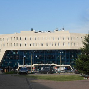 Shopping Mall Lermontov, Irkutsk, Russia. You are looking at the rear entrance side of the mall.
