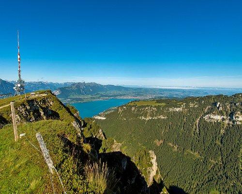 Stunning view from Niederhorn towards Thun