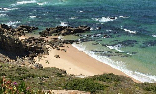Praia oceânica de Foz do Arelho em Portugal.