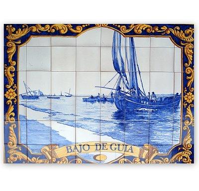 Taller de azulejos pintados a mano y souvenirs de cerámica artesanal.