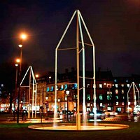 Fontaines Bouroullec , Effet de LED la nuit