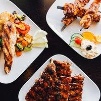 Diverse gerechten van de grill
