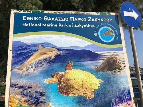 Sign to marine park
