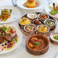 A selection of beautiful exotic dishes.