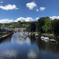 The views from the Totnes bridge