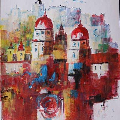 """""""Salzburg in Rot"""" von Leon Einberger"""