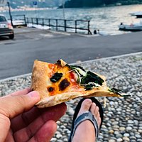 pizza on lake front