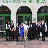 Luca and staff